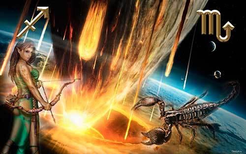 Сумісність Скорпіона і Стрільця: як ми загасити полум'я любові