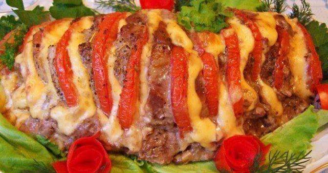 «Гармошка» з помідорами і сиром