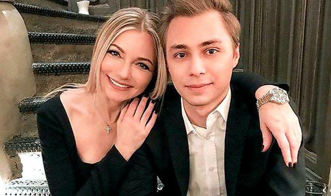 Інна Малікова з сином Дмитром