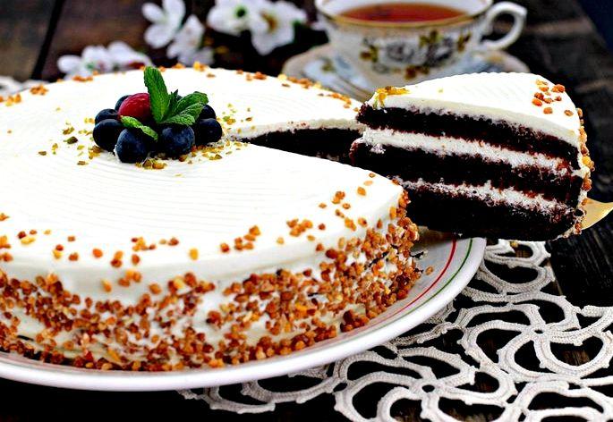 Крем для торта сметана і згущене молоко Торт можна прикрашати