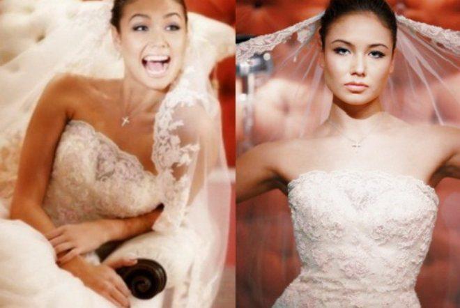 Ляйсан Утяшева у весільній сукні