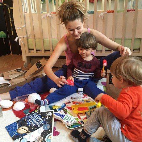 Марія Кожевнікова з синами
