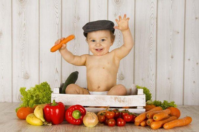 овочі в прикорму