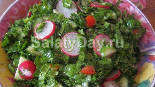 Овочевий салат до шашлику