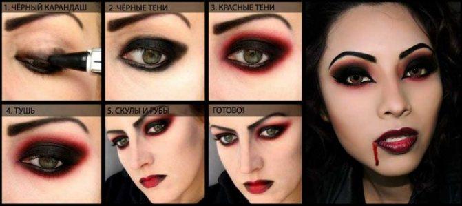 Покроковий макіяж вампіра на Хеллоуїн