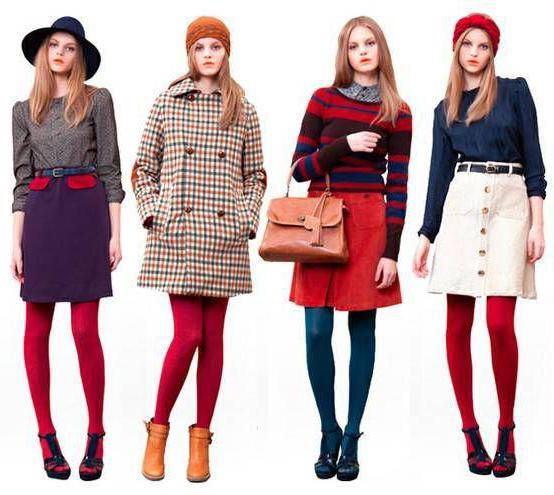 з чим носити кольорові колготки стильні поєднання